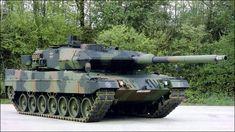 Leopard 2A6, with the Rheinmetall 120mm L55 gun.