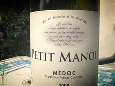 Médoc : Clos Manou : Petit Manou 2009 Label