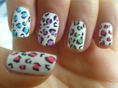 the little curly girl: nail art  White Leopard
