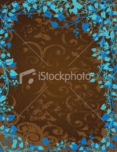 braun und blau Vine Leaves, Free Vector Art, Vines, Grunge, Illustration, Get Tan, Blue, Illustrations, Grape Vines
