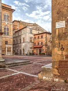The historic centre of the city of Pienza (Tuscany) is considered as a World Heritage Site from Unesco #Italy #Tuscany