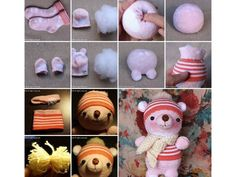How to make Sock Doll Winnies DIY tutorial instructions thumb How to make Sock Doll Winnies DIY tutorial instructions Diy Sock Toys, Sock Crafts, Sock Dolls, Doll Toys, How To Make Socks, Sock Animals, Bear Doll, Doll Tutorial, Sewing Toys