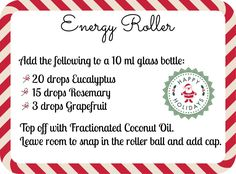 Easy Holiday DIY Gift Recipes | Energy Roller Stick and More with Young Living Essential Oils
