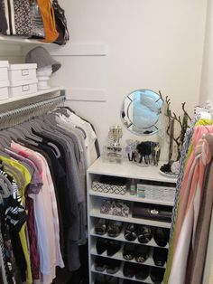 An impressive, and budget-friendly, small closet makeover, courtesy of Freckles Chick #closet #organization