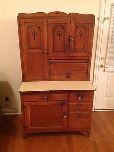 Antique Hard To Find Boone Hoosier Cabinet