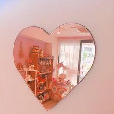 Imagem de pink, mirror, and aesthetic Room Ideas Bedroom, Bedroom Decor, Kawaii Room, Cute Room Decor, Wall Decor, Aesthetic Room Decor, My New Room, Room Inspiration, Home Decor