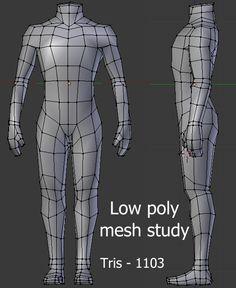Lowpoly body mesh study - Polycount Forum