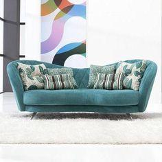 Josephine 6500 by Fama sofas Elegant Sofa, Living Room Decor, Armchair, Couch, Space, Modern, Decor Ideas, Interiors, Inspiration
