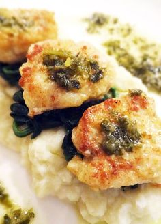Scrumpdillyicious: Pan Fried Monkfish with Lemon Caper Butter Sauce