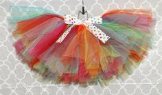Every girl needs a fabulous outfit for their celebration. This tutu is just that!    INFANT: (6-12mo) 16-17 waist and 6-7 length    TODDLER: