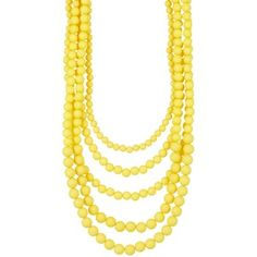 Madison Parker Five Row Beaded Necklace