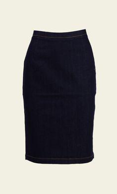 King Louie - Tube Skirt Denim ink blue