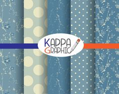 "Paper digital ""Winter Blue"" scrapbooking di KappaGraphic su Etsy"