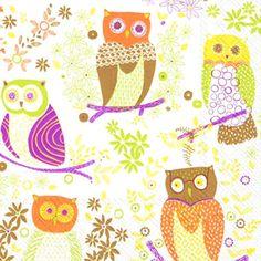 ペーパーナプキン(33)IHR:(5枚)JOLLY OWLS ブラウン-IH178