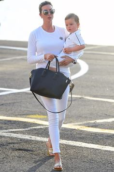 Who: Ivanka Trump What: The Perfect Helicopter Look Why: The New Yorker stepped off the helipad in white denim and an emblem sweater for a timeless take on jet set style. Get the look now: No. 21 sweater, $512, matchesfashion.com —Kerry Pieri   - HarpersBAZAAR.com