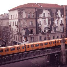 New Street Art Mural By Australian Artist Rone On The Streets Of Berlin, Germany. Street Art Berlin, Street Art News, 3d Street Art, Amazing Street Art, Street Art Graffiti, Street Artists, West Berlin, Berlin Wall, Berlin Ick Liebe Dir