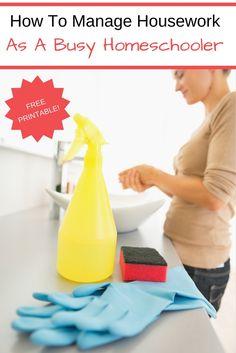 Managing housework as a busy homeschooler - The Relaxed Homeschool