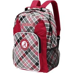 Alabama Crimson Tide Plaid Southpaw Backpack - Crimson d4aad22b08224