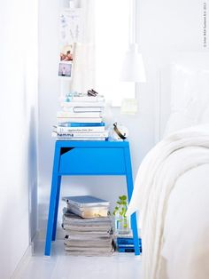 Blue bedside