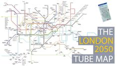 The London 2050 Tube Map Beautiful London, Proposal, Tube, Advertising, Map, Location Map, Maps