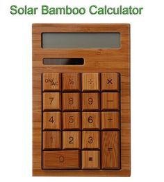 """Solar Bamboo Calculator by Bamboo. $19.00. Application Common use for addition subtraction multiplication and division and percentage can be applied.  Use Method  Take out the solar bamboo calculator , and put it table , as illustrated in Fig below Press """"ON/AC"""" to turn on the solar bamboo calculator, then it can be used for addition subtraction multiplication and division and percentage. The solar bamboo calculator will be switched off automatically without operation fo..."""