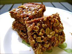 Gluten Free and Vegan Cinnamon Oat Bars. With an amazing secret ingredient!