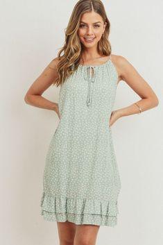 Floral Sundress, Ruffle Dress, Floral Maxi, Comfy Dresses, Summer Dresses, Nice Dresses, Casual Dresses, Fringe Hem Jeans, Fancy Tops