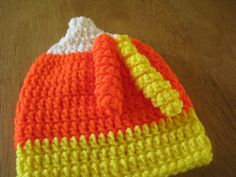 Candy Corn Hat by Trudy's Knots of Love www.etsy.com