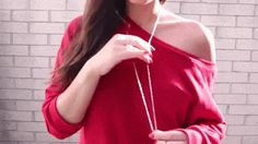 Pretty Emman in red knit pullover sweater. | Lookbook Store Fashion in Action #LBSMovingFashion