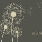 dandelion elegant vector illustration
