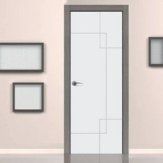 JB KIND Limelight Fortune Flush Fire Door is White Primed and 1/2 Hour Fire Rated