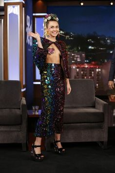 miley cyrus jimmy kimmel live