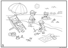 busy firefighter coloring pages | Swimming pool colouring page | *♣* Busy Kids Printables ...