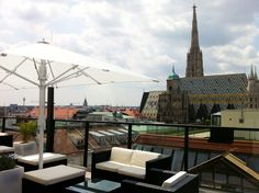 Cafe Bar Bloom at Hotel Lamee, Vienna Coffee Shops, Vienna Hotel, Coffee Places, Rooftop Bar, Cafe Bar, Best Coffee, Places To Visit, Bloom, Patio