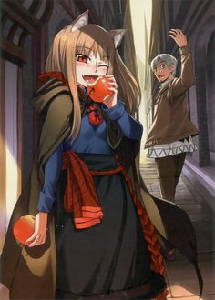 Holo and Lawrence from Spice and Wolf