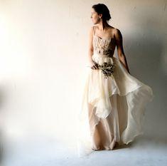 Wedding dress Bohemian wedding dress Blush wedding by larimeloom