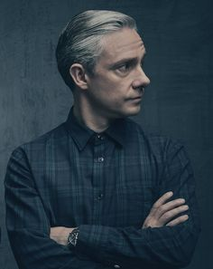 SHERLOCK (BBC) ~ S4 promo photo of Martin Freeman as John Watson.