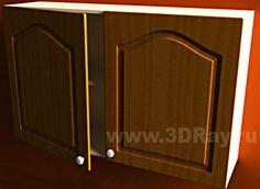 Рисунок 1 - Моделирование мебели. Шкафчик и 3D дверь сложной формы.
