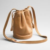 Shinola Leather Drawstring Bag