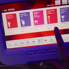 virgin airlines kiosk interface