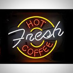 A custom neon sign from www.jantecneon.com! #hot #fresh #coffee #coffeeanddonuts #donuts #coffeebar #coffeehouse #neon #neonsign #neonsigns #jantecneon #jantec #jantecneonsigns #caffeine #MorningMotivation #coffeebar #coffeeshop #wakeup #goodmorning #goodmorningpost #sign #signs #neonglow #neonlight #decor #interiordecor #interiordesign #interiordesigner #interiordesignideas #designinspiration _ www.jantecneon.com