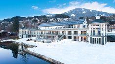 Kärnten Badehaus am Millstätter See im Winter Hotel Bellevue, Spa Hotel, Klagenfurt, Skiing, Austria, Winter, Relax, Snow, Mansions