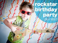Rockstar birthday party - super fun kids party idea. Because who doesn't love a rockstar party?!