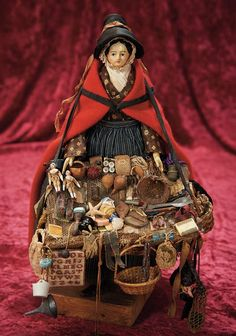 Lot: Early German Papier-Mache Doll as Welsh Peddler Lady cm.) Papier-ma… – so swank Lot: Early German Papier-Mache Doll as Welsh Peddler Lady cm. Dollhouse Dolls, Miniature Dolls, Miniature Houses, Victorian Dollhouse, Modern Dollhouse, Half Dolls, China Dolls, Little Doll, Wooden Dolls