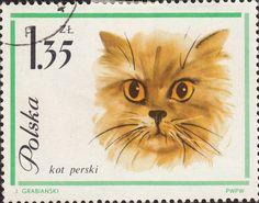 Postage stamp, Poland (1960's) - Illustration by Janusz Grabiański