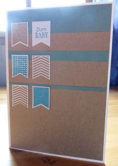 """Karte """"Glückwünsche zum Baby"""" - erstellt mit dem Stempelset """"Sag's mit Fähnchen"""" von Stampin up!"""
