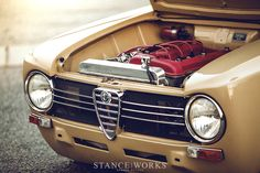 DV Mechanics – Dorian's Alfa Romeo Giulia is an Exercise in Workmanship Garage Furniture Design, Car Part Furniture, Automotive Furniture, Automotive Decor, Man Cave Room, Man Cave Bar, Singer Vehicle Design, Alfa Alfa, Tailgate Bench
