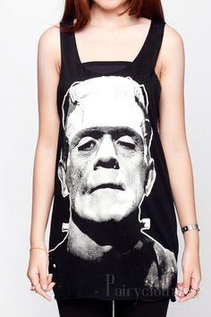Frankenstein Shirt Horror Movie Skull Zombie Devil por PairyClothes, $15.99