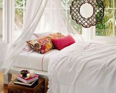 Simple, yet elegant, over the bed accent