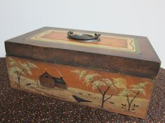 New pattern available. Altered Cigar Boxes, Crow's Nest, Tole Painting, Painting Patterns, Country Decor, Folk Art, Decorative Boxes, Decorative Paintings, Crafty